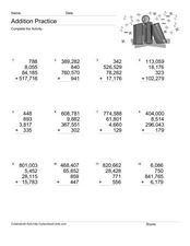 Addition Practice: Adding 4 Numbers #3 Worksheet