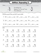 Addition - regrouping Worksheet