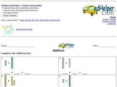 Addition Using Blocks Worksheet