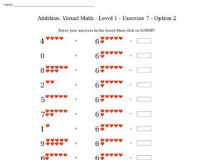 Addition: Visual Math - Level 1 - Exercise 7 - Option 2 Worksheet