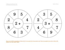 Addition Wheels Worksheet