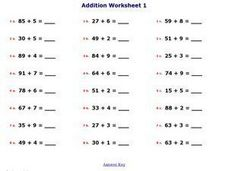 Addition Worksheet #6 Worksheet