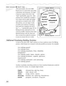 Additional Vocabulary Building Activities Worksheet