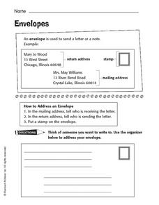 Address an Envelope Worksheet