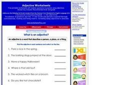 Adjective Practice Worksheet