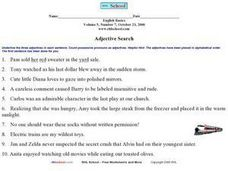 Adjective Search Worksheet