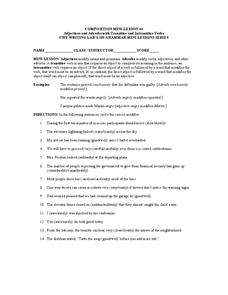Transitive Verbs Worksheet 7th Grade - transitive verbs worksheet ...