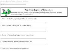 Adjectives: Degrees of Comparison Worksheet