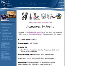 Adjectives in Poetry Lesson Plan