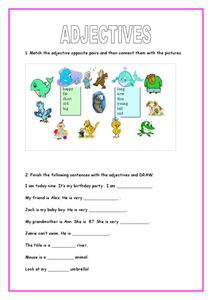 Adjectives:  Opposites Worksheet