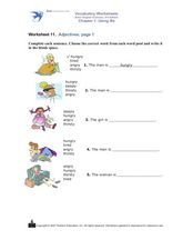 Adjectives, Page 1 Worksheet