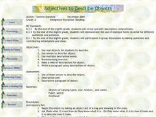 Adjectives to Describe Objects Lesson Plan