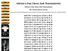 Adrian's Fun Chess And Tournaments Worksheet