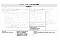 ADULT ESOL LESSON PLAN--Level 6--Family and Parenting Lesson Plan