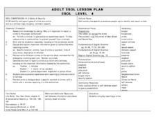 ADULT ESOL LESSON PLAN--Level4-Safety and Security Lesson Plan