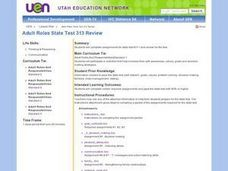 Adult Roles State Test 313 Review Lesson Plan
