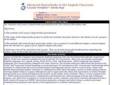 Advanced HyperStudio in the English Classroom Lesson Plan