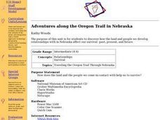Adventures along the Oregon Trail in Nebraska Lesson Plan