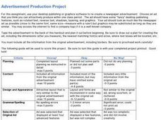 Advertisement Production Project Lesson Plan