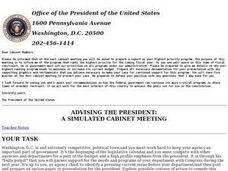 Advising the President:  A Simulated Cabinet Meeting Lesson Plan