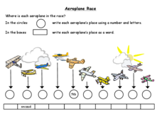 Aeroplane Race Worksheet