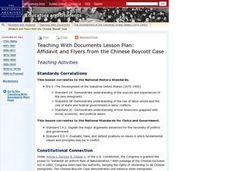 Affidavit and Flyers from the Chinese Boycott Case Lesson Plan