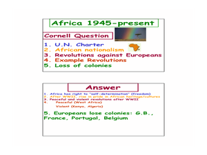 Africa 1945-Present Lesson Plan