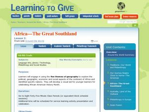 Africa: The Great Southland Lesson Plan