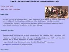 Africa/United States-How do we compare materially? Lesson Plan