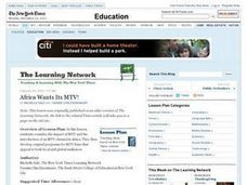 Africa Wants Its MTV! Lesson Plan