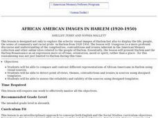 African Amercan Images in Harlem (1920-1950) Lesson Plan