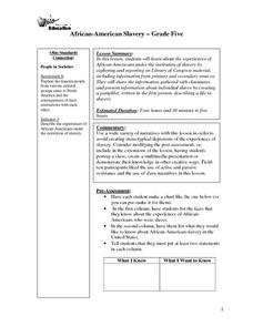 African American Slavery Lesson Plan