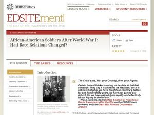 African-American Soldiers After World War I: Had Race Relations Changed? Lesson Plan