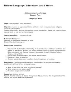 African American Voices Lesson Plan