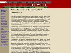 African-Americans in the American West Lesson Plan