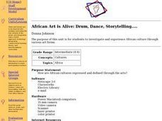 African Art is Alive: Drum, Dance, Storytelling.... Lesson Plan