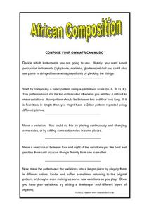 African Composition Worksheet