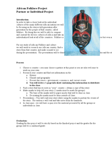 African Folklore Project Activities & Project