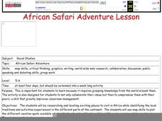 African Safari Adventure Lesson Plan