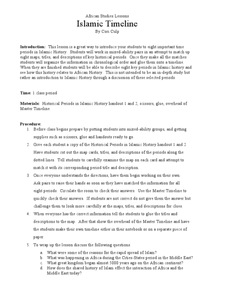 African Studies Lessons Islamic Timeline Lesson Plan