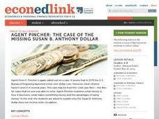 Agent Pincher: The Case of the Missing Susan B. Anthony Dollar Lesson Plan