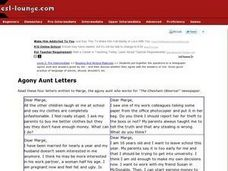 Agony Aunt Letters Worksheet