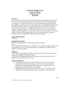 Agrarian And Industrial Workers Lesson Plan