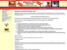 Agriculture: Introduction to Global Trade Lesson Plan