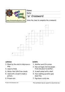'Ai' Crossword Worksheet