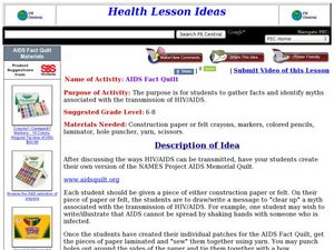 AIDS Fact Quilt Lesson Plan