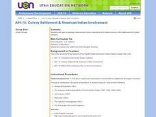 AIH-15: Colony Settlement & American Indian Involvement Lesson Plan