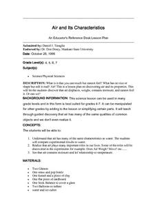 Air and Its Characteristics Lesson Plan