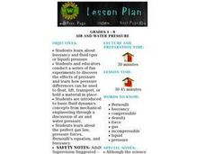 Air and Water Pressure Lesson Plan