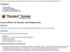 Air Density and Temperature Lesson Plan